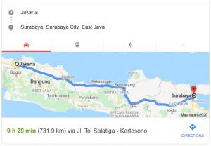 Rute Jakarta Surabaya